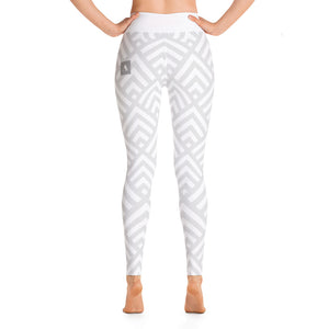 Gray Abstract High-Waist Leggings