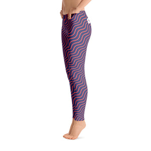 Purple Abstract Leggings