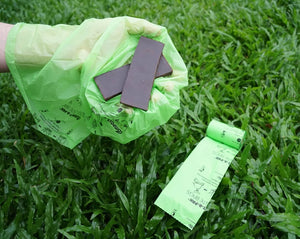 Compost-a-pak dog poop bags for Sunday Mornings!