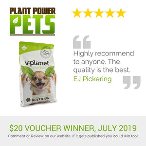 V-Planet Mini Kibble 5 Star Review, July Voucher Winner