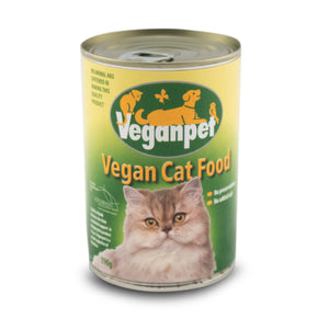 Veganpet Wet Cat Food Cans 390g