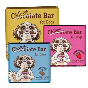 NEW! Veggie Paws - Chocolate (Carob) Bars for Dogs 30g
