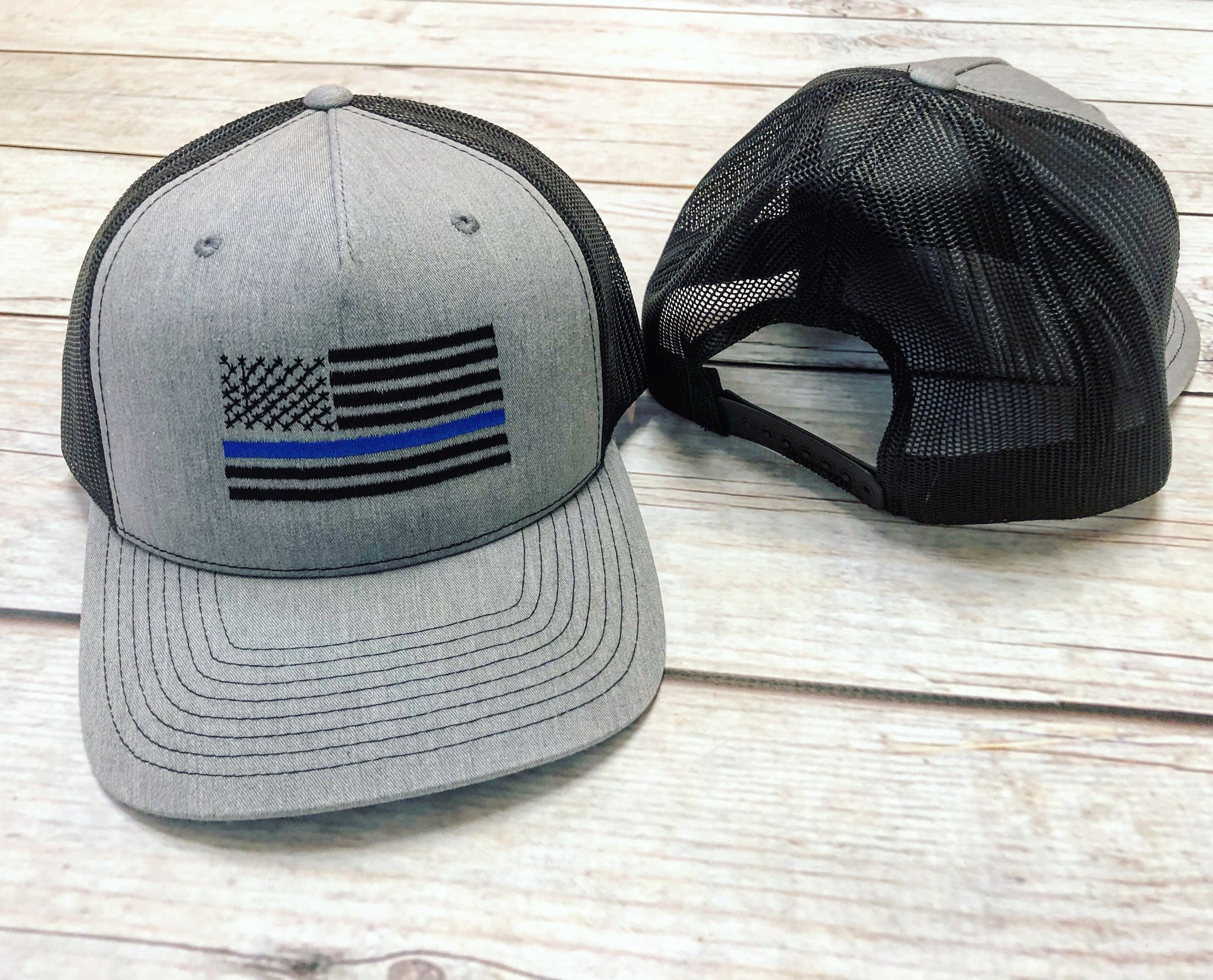 b46384b01 Thin Blue Line Flag Embroidered Hat