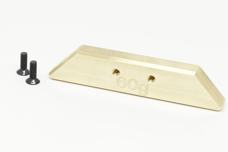 39960 Brass counter weight set 60g chassis rear