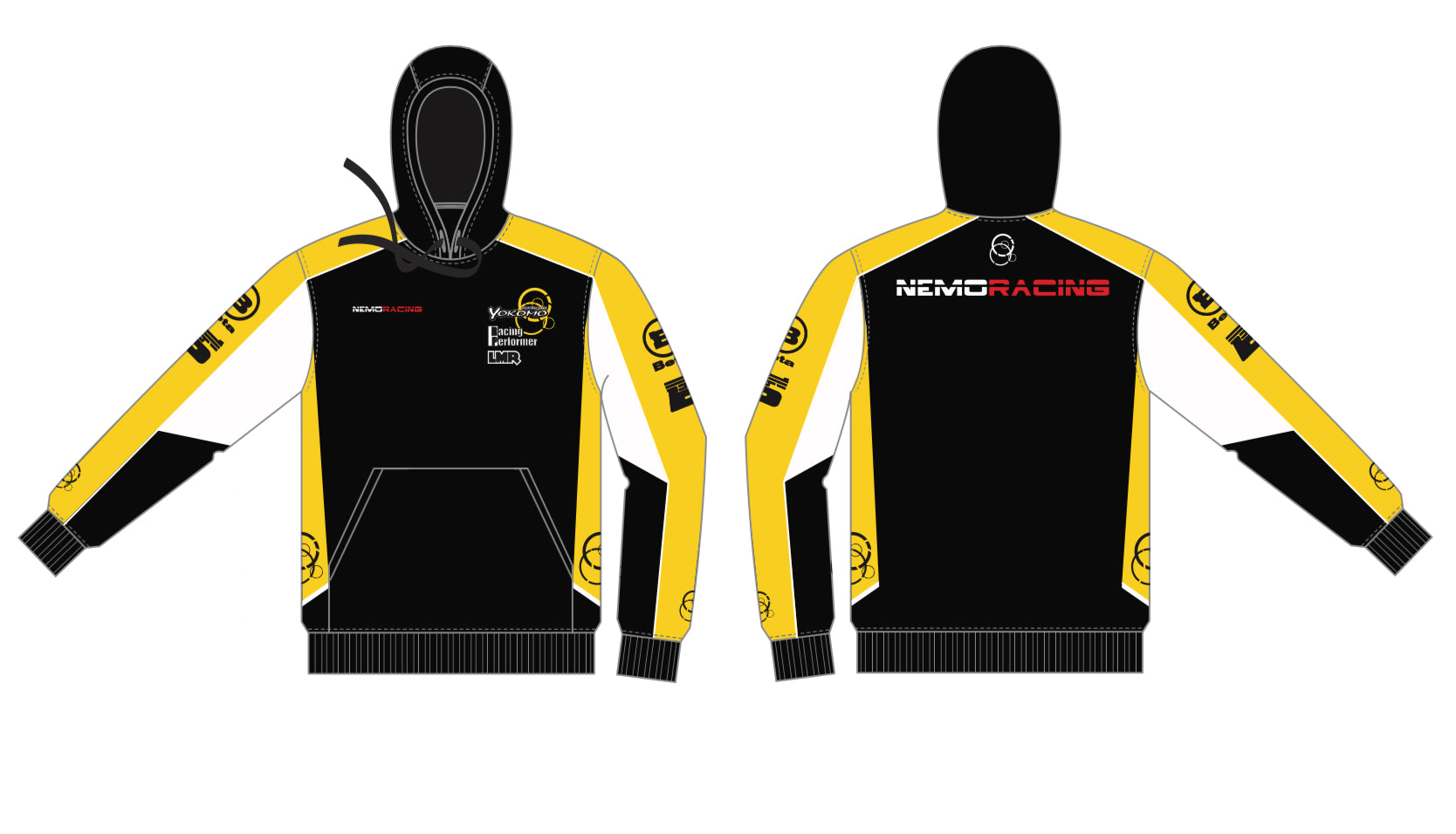 NMR002Y Official 1/10th Scale Factory Team Hoodie