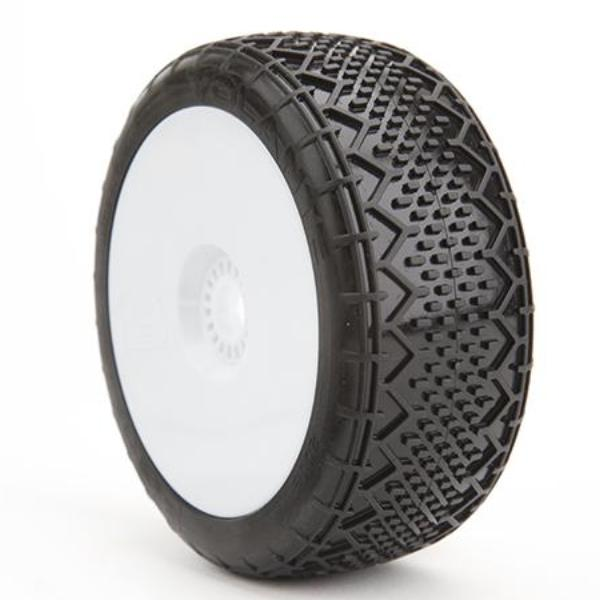BE2116 Volante Buggy Tire (White Wheel) (Pr) PREGLUED