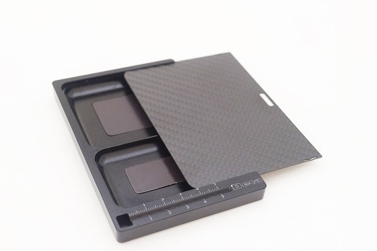 BE4602 BETA Alloy parts tray with carbon fiber lid