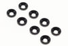 BE6302B 3mm Countersunk Aluminium Anodised Washers Black