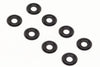BE6312B 3mm Button/Cap Screw Aluminium Anodised Washers Black