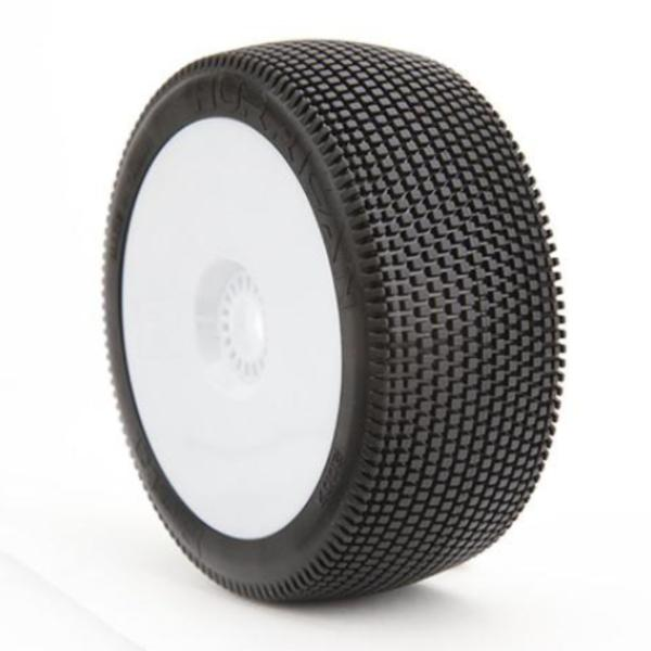 BE2117 Hurrican Buggy Tire (White Wheel) (Pr) PREGLUED