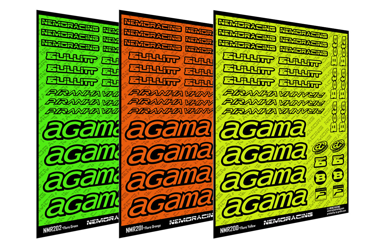 NEMO Racing Sticker Set Fluro Neon