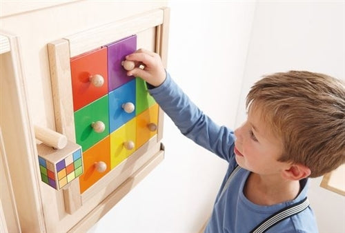 Colorful Squares Sensory Wall Activity Panel by HABA
