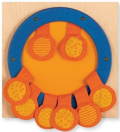 Touch & Feel Pouches Sensory Wall Activity Panel by HABA