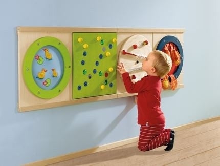 Magnetic Track + 2 Wands Sensory Wall Activity Panel by HABA
