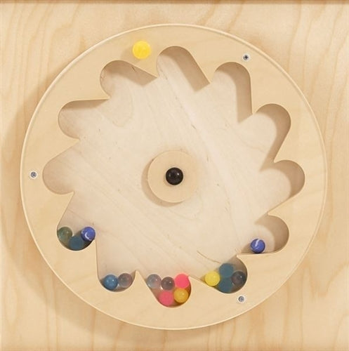 Gear Wheel w/ Rubber Balls Sensory Wall Activity Panel by HABA