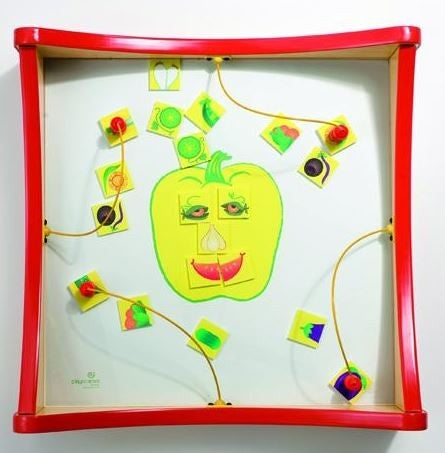 Veggie Face Match Kids Activity Play Table