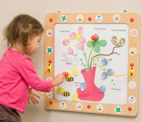 Flowers & Bees Magnetic Wall Game
