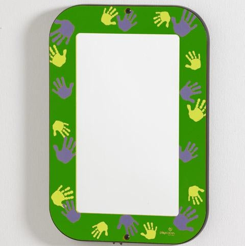 GREEN HANDS-ON MIRROR