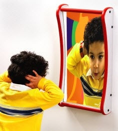 Small Funhouse Faces Giggle Wall Mirror