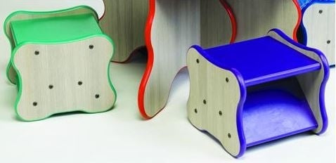Kids Wavy Legs Stools-Made in USA