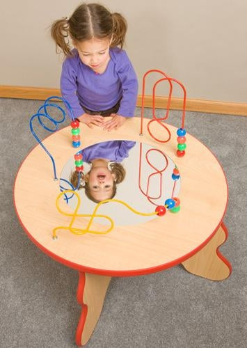 Wavy Legs Bead and Mirror PLAY TABLE
