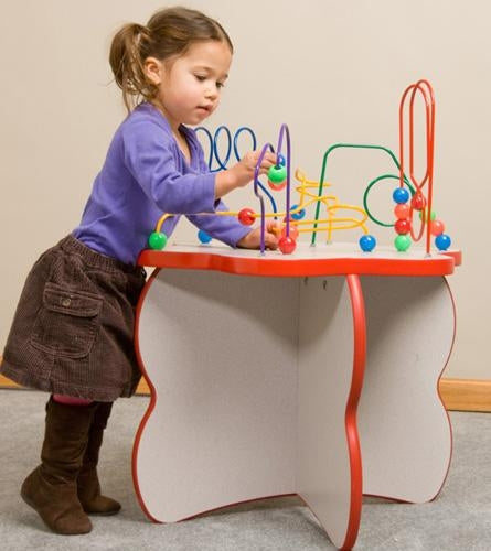 Flower Shaped Wire & Beads Game Play Table