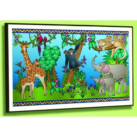 ANIMAL FAMILIES FRAMED ART