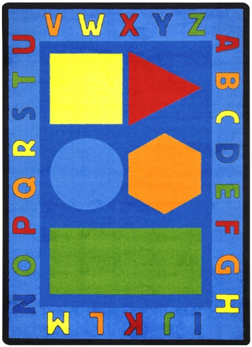 Alphabet & Shapes Kids Play Area Carpet