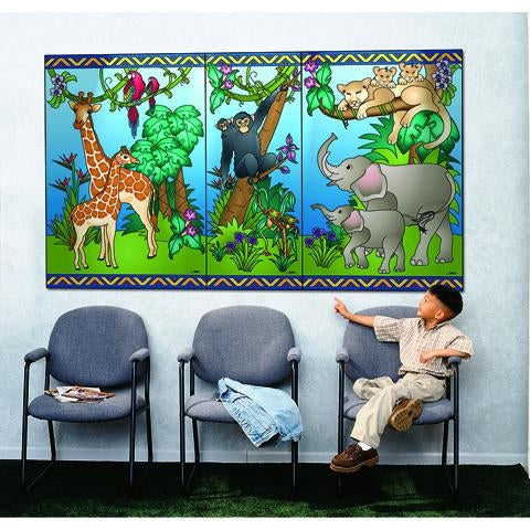 Animal Families Story Mural-Made in USA