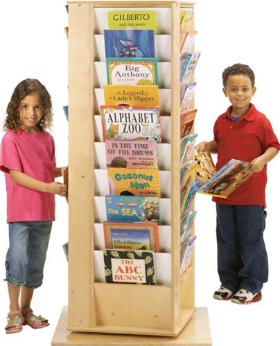 Revolving Literacy Tower - Large -4 Sided Kids Bookcase