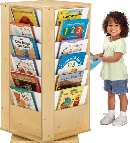 Revolving Literacy Tower - Small -4 Sided Kids Bookcase