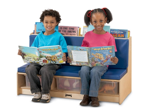 Kids Reading Couch-Literacy Couch w/Tubs-Red or Blue