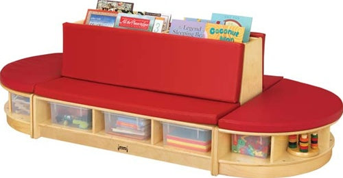 KIDS READ-a-ROUND - 3 PIECE SET FOR WAITING ROOMS-Red/Blue