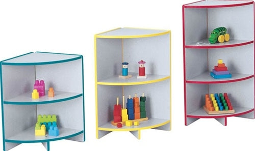 RAINBOW ACCENTS-KYDZCURVES - COLORED CORNER SHELVES IN THREE SIZES