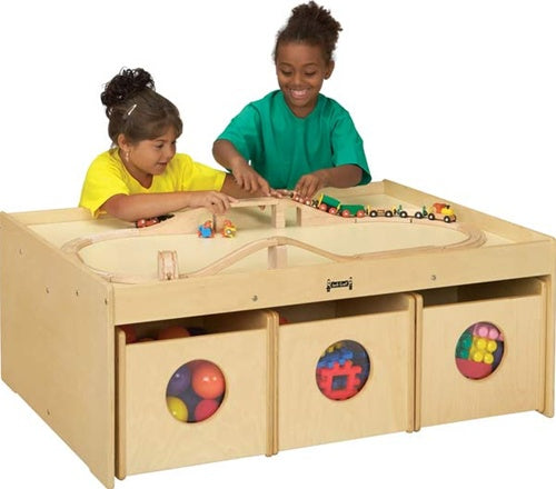 KIDS ACTIVITY PLAY TABLE & STORAGE FOR PLAY AREAS