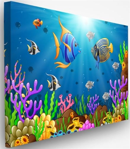 Acoustic Designer Art Noise Absorption Wall Panel-Under The Sea #1