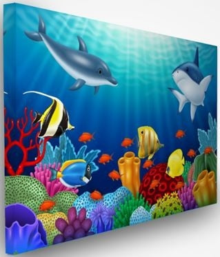 Acoustic Designer Art Noise Absorption Wall Panel-Under The Sea #2