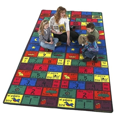 Kids Carpets-Amigos Bilingual Kids Spanish Educational Activity Rug