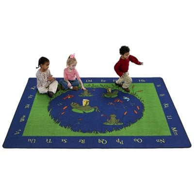 Flagship Kids Carpets-Frogs Kids Educational Rug