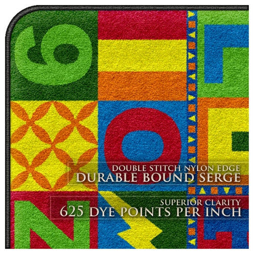 Flagship Kids Carpets-Floors That Teach Kids Educational Rug, Round or Square