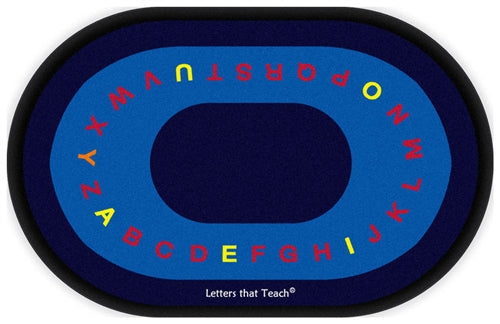 Flagship Kids Carpets-Letters that Teach Kids Educational Oval Rug