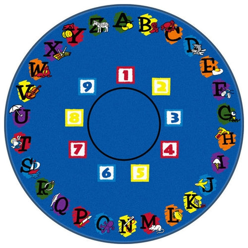 Kids Carpets-Super Circle Kids Activity Round Rug