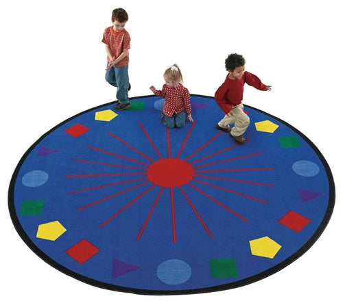 Kids Carpets-Shapes Galore Kids Activity Round Rug