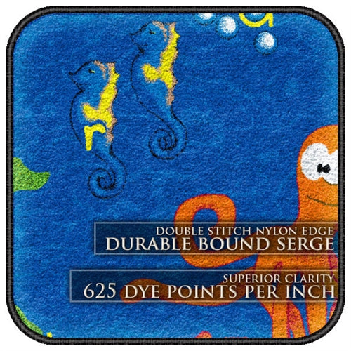 Flagship Kids Carpets-Sea Hunt Kids Educational Round Rug