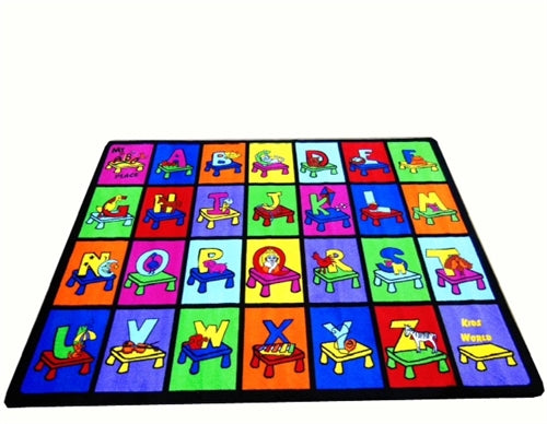 Kids World Carpets-My ABC Place Children's Educational Rug