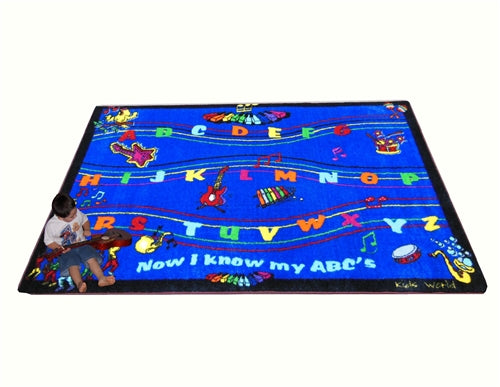 Kids World Carpets-ABC Musical Song Children's Educational Rug