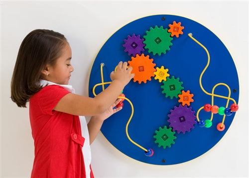 Loco Motion Spheres Wall Panel Toy-Red or Blue, Made in USA