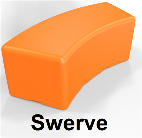 Eco Children's Seating Collection-Swerve Bench