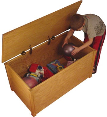 Handcrafted Wooden Toy Box/Toy Chest ABC Full Alphabet , Natural, Espresso or Cherry