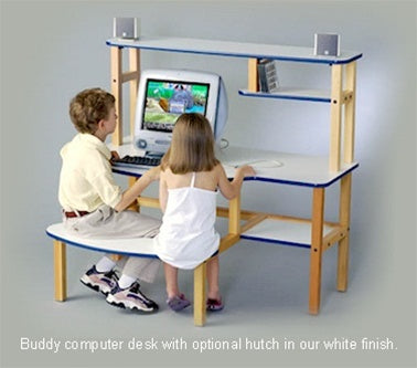 Buddy Wooden Kids Computer Desk w/Optional Hutch
